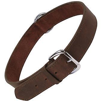 Gloria Plain Leather Dog Collar