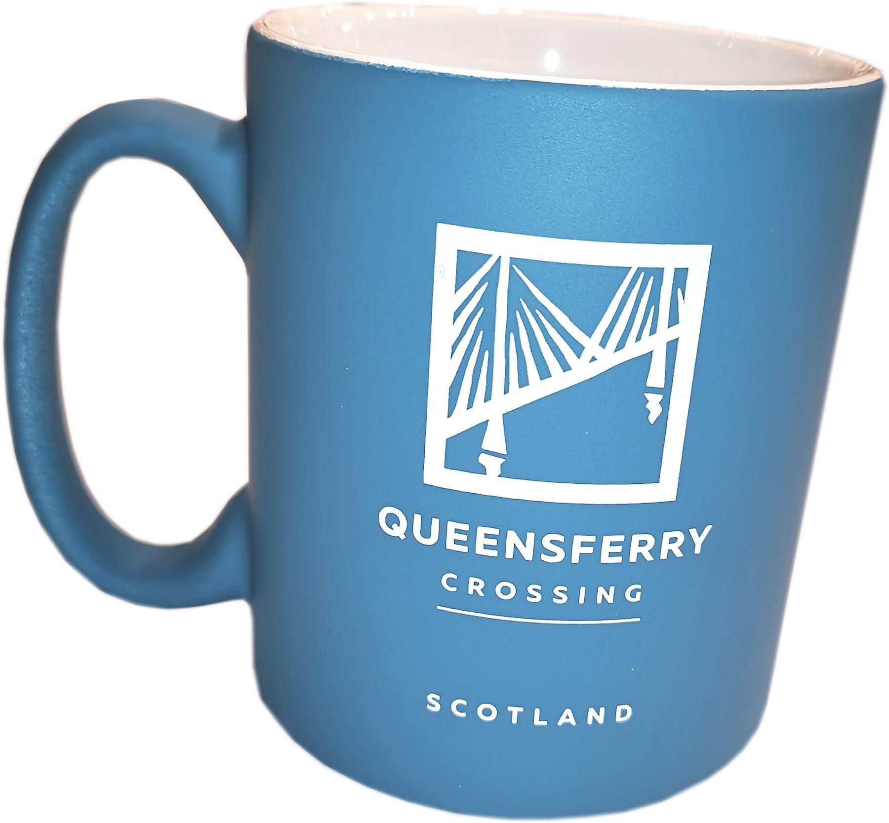 The Forth Bridges Mug Blue - Queensferry Crossing