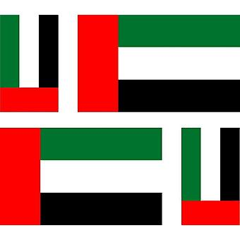 4 X Sticker Sticker Sticker Car Motorcycle Valise Pc Portable Flag Uae