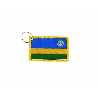 Cle Cles Key Brode Patch Ecusson Badge Flag Rwandan