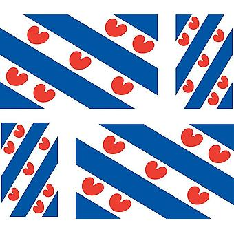 4 x Sticker sticker car motorcycle flag Frisian