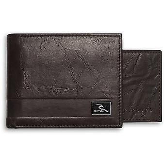 Rip Curl Section RFID 2 In 1 Leather Wallet in Brown