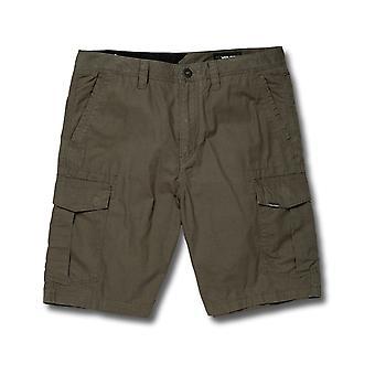 Volcom Miter II Cargo Shorts in Dark Olive