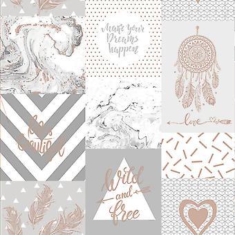 Het leven is mooi collage behang Holden