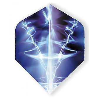Unicorn Darts Core .75 Micron Plus Flights Metallic Holgram Range - Lightening