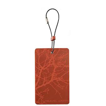 Lewis N. Clark Travel Green Branches Luggage Tag, Orange #ID90ONG