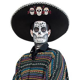 Sombrero Los Muertos skallen Halloween Mexico