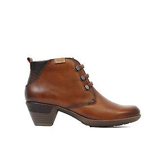 Pikolinos Rotterdam 902-8746 Bottes de cheville à talons pour femmes en cuir brun