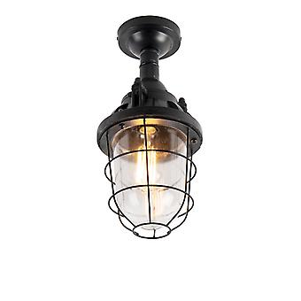 QAZQA Industrial ceiling lamp black - Cabin
