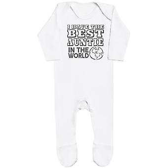 I Have The Best Auntie In The World Baby Romper