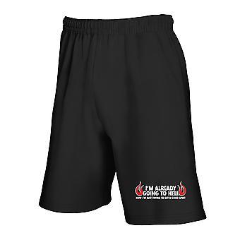 Black tracksuit shorts trk0719 good spot