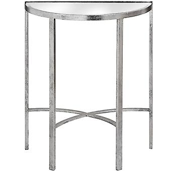 Hill Interiors Mirrored Silver Half Moon Table