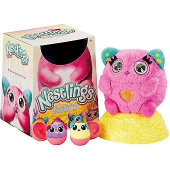 Nestlings Interactive Pet and Babies with Lights and Sounds 51201 Pink