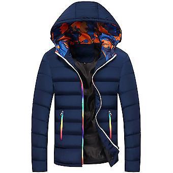 Allthemen Men's Solid Hodded Coat Winter Warm Slim Fit Outwear Hoodies