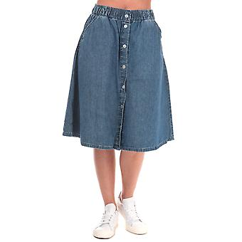 Womens Levi's Lightweight Midi Skirt In Delicate Condition