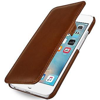 Etui Pour Iphone 6s Plus / 6 Plus Book Type En Cuir Véritable Cognac
