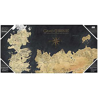 Game of Thrones glass poster map printed by Westeros, made of tempered glass.