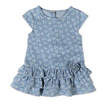 Baby Globe Girls Floral Kleid Jeans Look