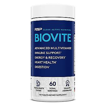 Rsp biovite advanced multivitamin, immune support, heart health, digestion & muscle recovery