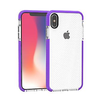 Voor iPhone XS MAX Cover, Basketbal Texture Thin Shockproof Phone Case, Paars
