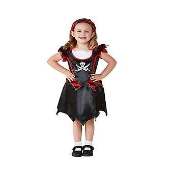 Toddler Pirate Skull & Crossbones Costume Toddler Black