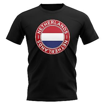 Holland Football Badge T-shirt (sort)