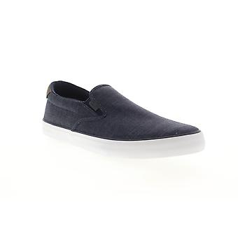 Lugz Clipper  Mens Blue Canvas Slip On Sneakers Shoes
