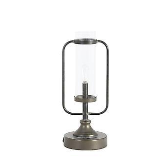 Light & Living Table Lamp Lantern Led 12.5x13.5x33.5cm - Raddie Bl Brnz And Lamp