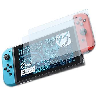 Bruni 2x Pellicola Protettiva compatibile con Nintendo Switch Proteggi Schermo