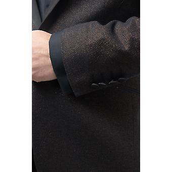 Dobell Miesten pronssi shimmer smokki takki säännöllinen sovi kontrasti huippu käänne