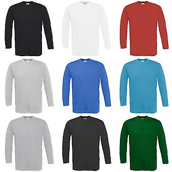 B&C Mens Exact 150 LSL Crew Neck Long Sleeve T-Shirt