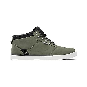 Etnies Jefferson Mid Trainers in Olive/Black