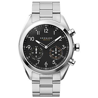 Kronaby Apex Quartz Analog Men Watch with S3111/1 Stainless Steel Bracelet