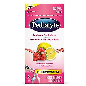 Pedialyte powder packets, strawberry lemonade, 6 ea