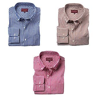 Brook Taverner Mens Montana Gingham Long Sleeve Shirt