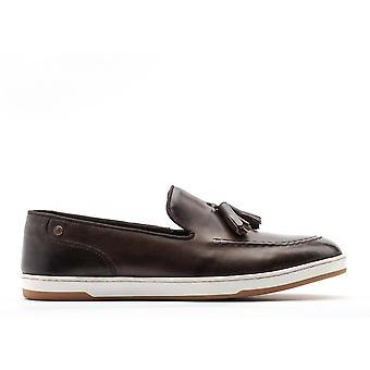 Base London Miesten Pogo Burnished nahka slip on mokkasiini kengät