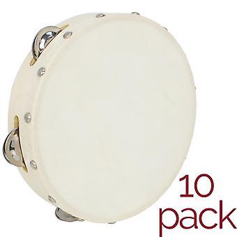 A-Star Tambourine - 8 pulgadas - Pack de 10
