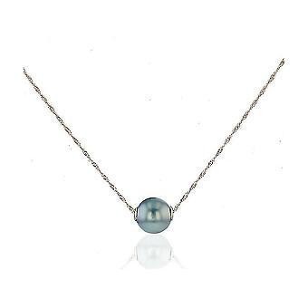 Luna-Pearls Collier Rose Gold 750 Zoetwater Fokkerij Pearl Ming 9-9,5mm