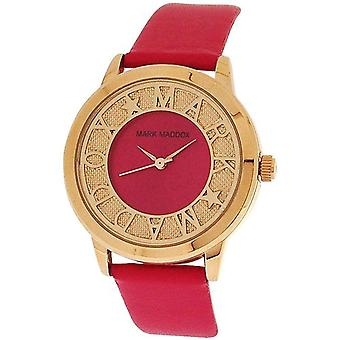 Mark Maddox Mesdames envie ton or rose cadran analogique PU bracelet Watch MC0005-70