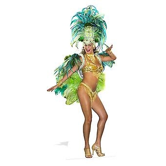 Mardi Gras Carnival Festival Babe Lifesize Cardboard Cutout / Standee / Stand Up