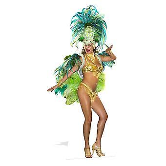 Mardi Gras carnaval Festival Babe Lifesize papelão recorte / cartaz / pé