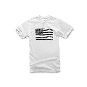 Alpinestars Flag Short Sleeve T-Shirt in White