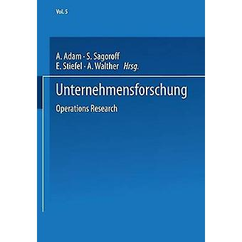 Unternehmensforschung Operations Research by Adam & A.