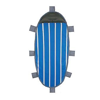Oval stripe with pillow inflatable beach mat