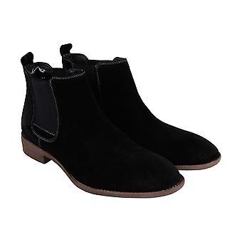 Robert Wayne Delaware  Mens Black Suede Casual Dress Boots Shoes