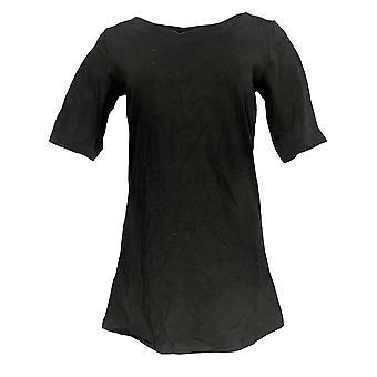 Mujeres's Top Essentials Perfect Jersey Tunic Negro A307452