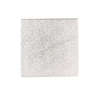 Culpitt 7-quot; (177mm) Double Thick Square Turn Edge Cake Cards Silver Fern (3mm Thick) - Single