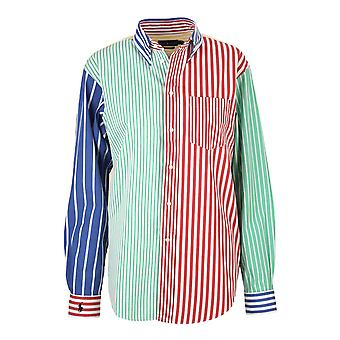 Ralph Lauren Ezcr012020 Women's Flerfarvet bomuldsskjorte