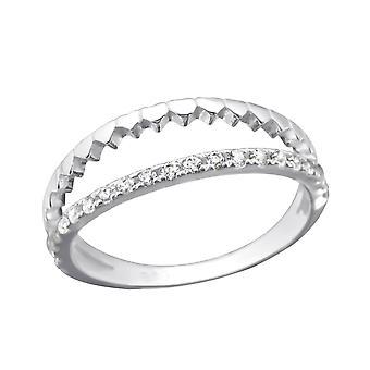 Открыть - 925 стерлингового серебра кубического циркония кольца - W22405x
