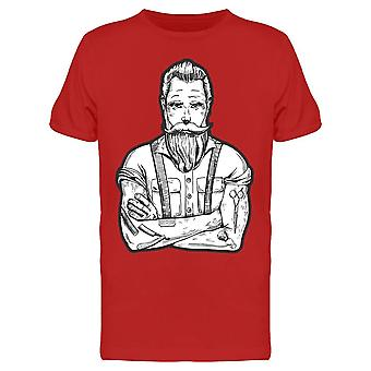 Ink Drawing Barber Icon Tee Men's -Image by Shutterstock